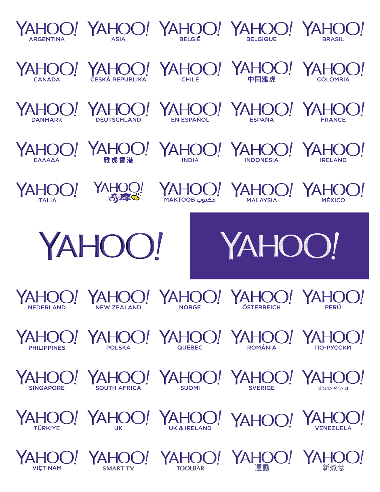 A preview of scale for the Yahoo logos project.