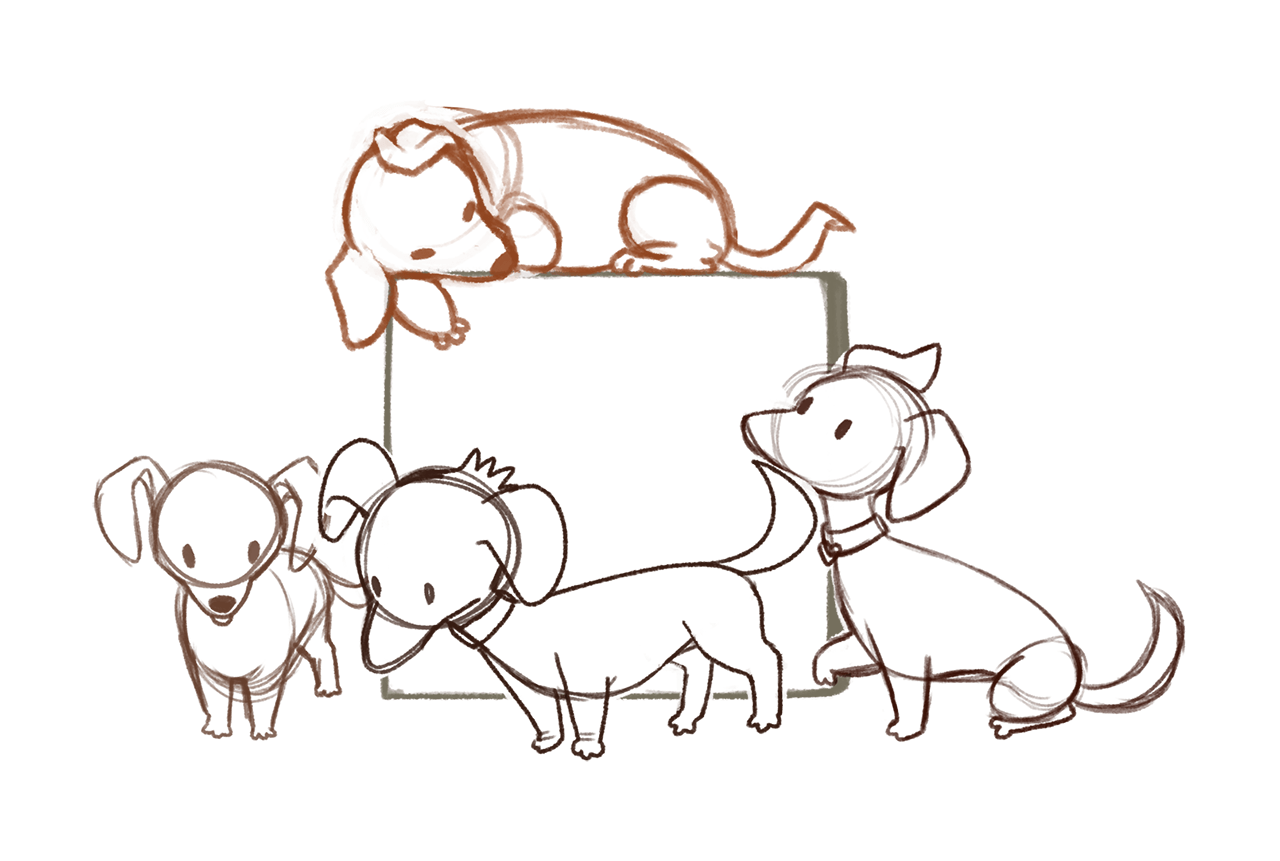 Source sketch for pets drawing.
