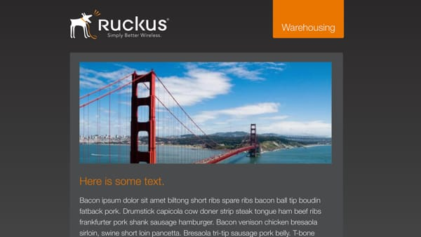 Ruckus Wireless - Email Templates