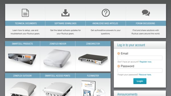 Ruckus Wireless - Support Redesign