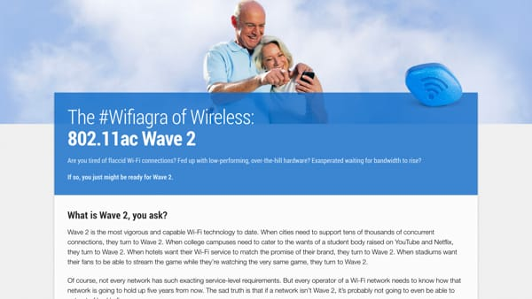 Ruckus Wireless - Wifiagra Campaign